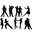 Salsa silhouettes vector image
