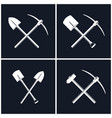 set of tools for excavation and percussion works vector image