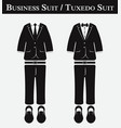 business suit and tuxedo suit vector image