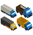 3d design for different types of truck vector image