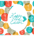 easter colorful doodles vector image vector image
