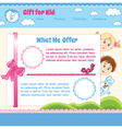 Baby cartoon background vector image vector image