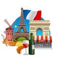 france landmarks vector image vector image