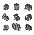 isometric hospital building icon vector image vector image