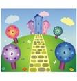 wonderful fairy-tale house vector image vector image