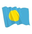 flag of palau vector image vector image