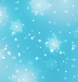 Abstract Light Blue Background with Snowflakes vector image