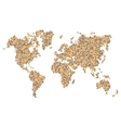 Dotted Brown World Map Isolated on White vector image