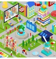 Isometric City of Education with Books vector image