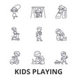kids playing children playing kids playing vector image