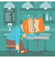 Man sleeping in bar vector image