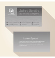 simple brushed metal gray business card design vector image