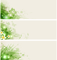 summer floral banners vector image