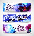 watercolor space vector image