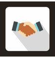 Handshake icon in flat style vector image