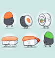 Sushi Cartoon Icons vector image