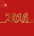 2016 Happy New Year on red background vector image