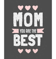 Chalkboard design greeting card for Mothers day vector image