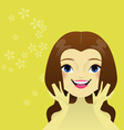Womans care of her skin vector image
