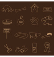 dog theme simple outline icons set eps10 vector image