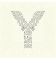 Letter Y Golden Monogram Design element vector image