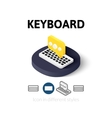 Keyboard icon in different style vector image