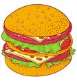 Doodle Cheeseburger vector image vector image