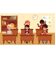 Cartoon of school kids vector image