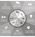 Circle infographic timeline element layout vector image