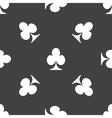 Clubs pattern vector image