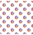 colorful circle divided into eight parts pattern vector image