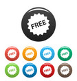 free sign icons set vector image