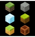 Game block Isometric Cubes Set elements vector image