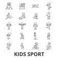 kids sport play children sports football vector image