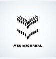 media journal vector image