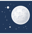 Planet and Stars in Space vector image