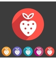 strawberry icon flat web sign symbol logo label vector image