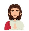 jesus christ man cartoon vector image
