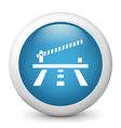 Parking Glossy Icon vector image