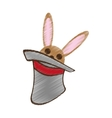 Hat rabbit magic show drawing vector image
