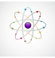 Atom background vector image