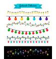 light decoration christmas bulb garlands vector image