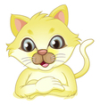 A yellow cat vector image vector image