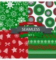 Abstract Beauty Christmas and New Year Seamlss vector image vector image