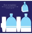 box template Blue glad rags vector image