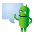 Funny green robot - vector image vector image