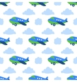 Seamless planes pattern vector image
