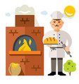 baker flat style colorful cartoon vector image