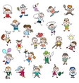 Childrens drawings of doodle people vector image