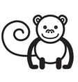Cute animal monkey - vector image